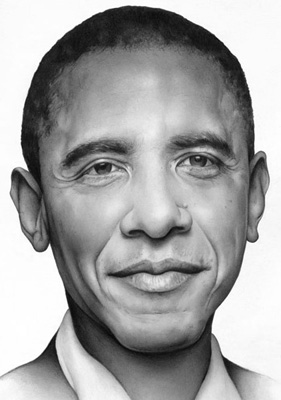 Cath Riley - commissioned portraits:  Obama