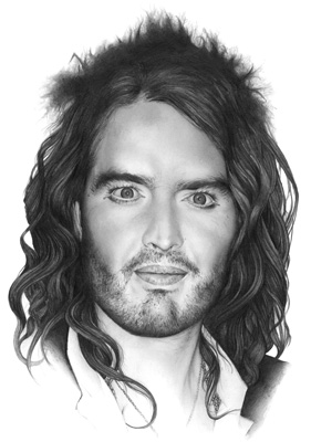Cath Riley - commissioned portraits:  Russell Brand
