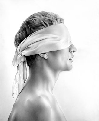Cath Riley - faces:  blindfold