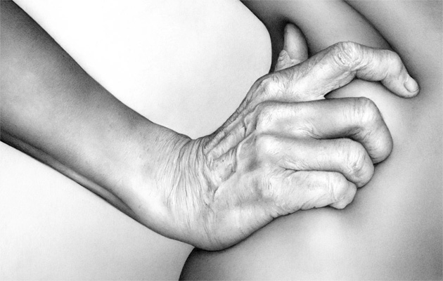 Cath Riley - flesh:  hand and hip