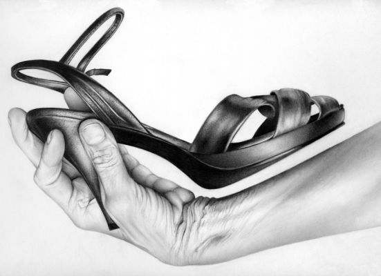Cath Riley - hands:  shoe and hand 1