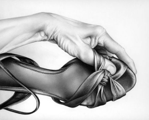 Cath Riley - hands:  shoe and hand 2
